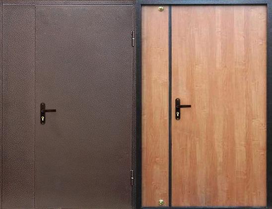 Тамбурная дверь порошок и ламинат  арт.тбд-18