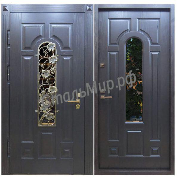 Дверь с ковкой арт.зд-41