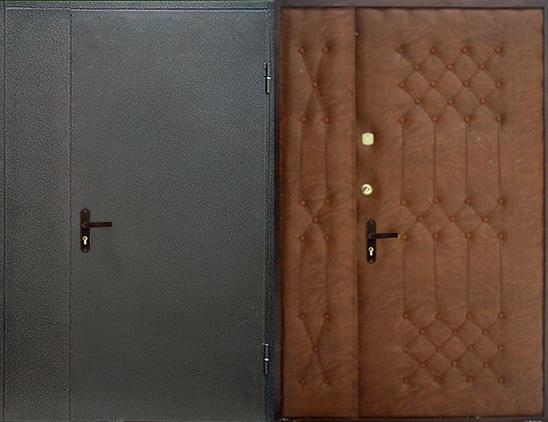 Тамбурная дверь порошок и винилискожа(дутая)  арт. тбд-10
