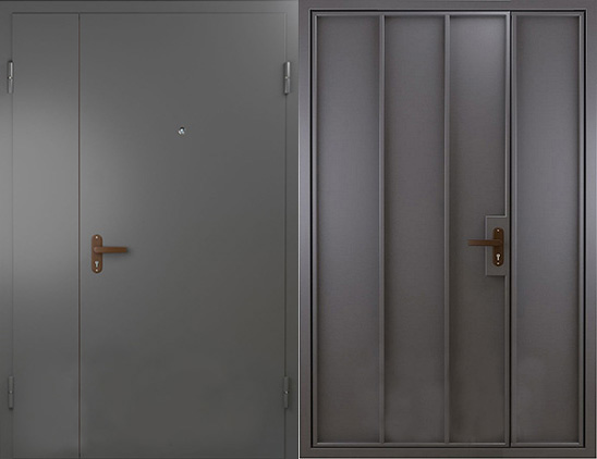 Тамбурная дверь нитроэмаль(скелет)  арт.тбд-4