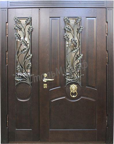 Дверь с ковкой   арт.зд-43