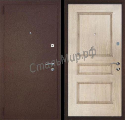 Дверь порошковое напыление и МДФ(трёхконтурная)  арт. тку-6