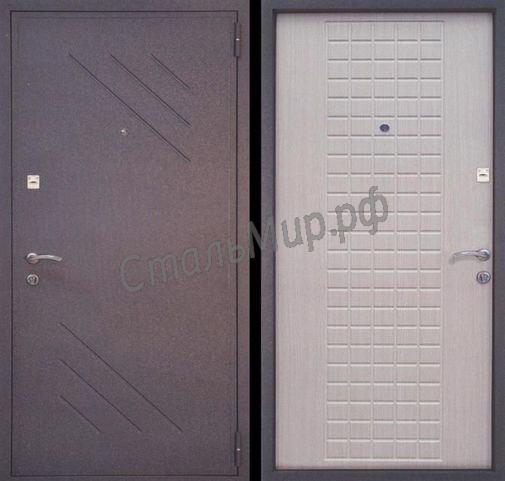 Дверь порошковое напыление и МДФ (трёхконтурная)  арт.тку-8