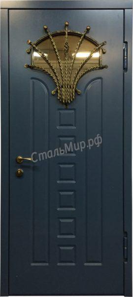 Дверь с ковкой   арт. м-43