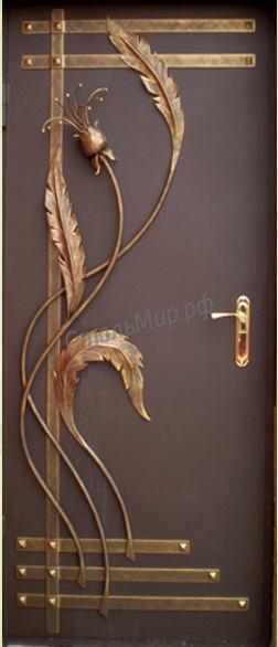 Дверь с ковкой  арт. дск-54