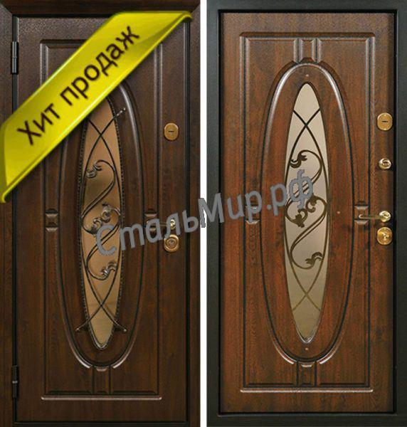 Дверь с ковкой арт.м-35