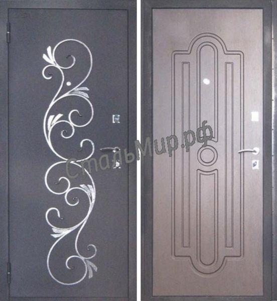 Дверь с ковкой   арт.пн-16