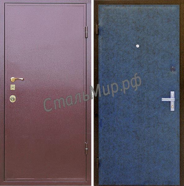 Дверь порошковое напыление и винилискожа арт.двк-19