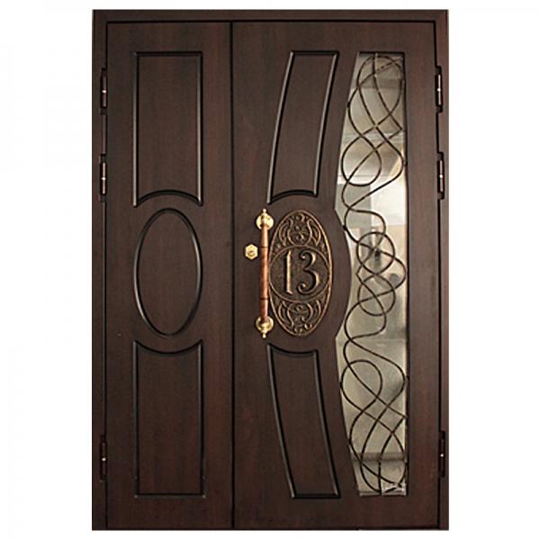 Дверь с ковкой   арт. пд.18
