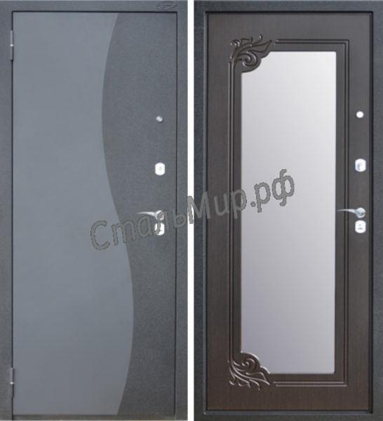 Дверь порошковое напыление и МДФ с зеркалом арт. м-51