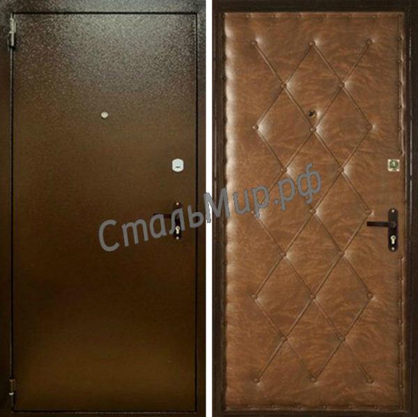 Дверь порошковое напыление и винилискожа арт.пн-13