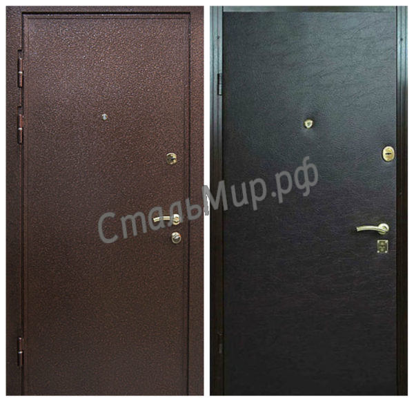 Дверь порошковое напыление и винилискожа  арт.двк-12