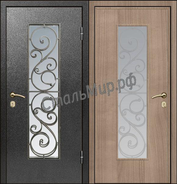 Дверь с ковкой   арт.пн-23