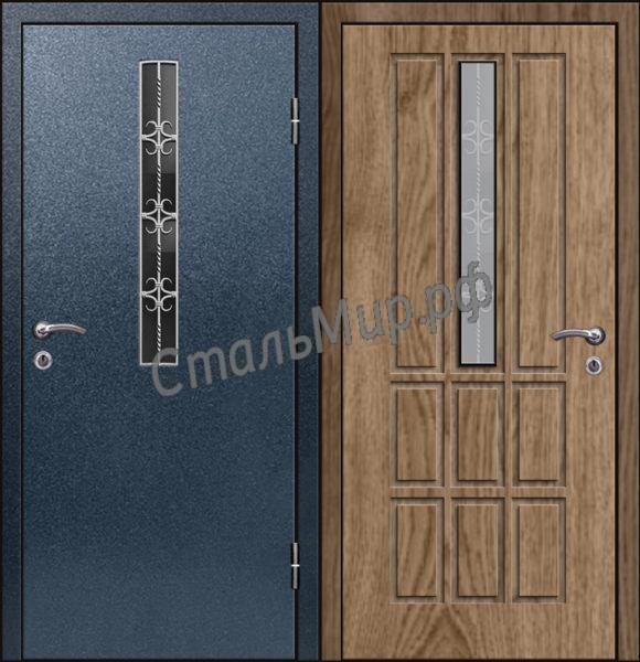 Дверь с ковкой   арт. пн-22